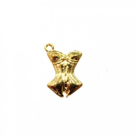 Pingente Corpete dourado- PTD033