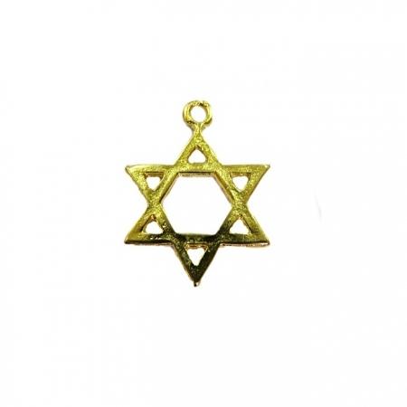 Pingente Estrela de Davi dourada - PTD051