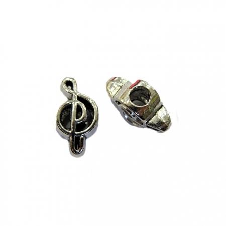 Berloque Niquel Nota Musical clave de sol - BEN119