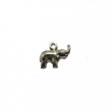 Pingente Elefante níquel pequeno (10 unidades)- PTN033