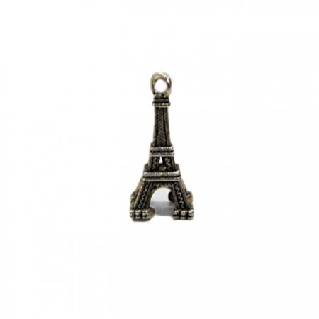 Pingente Torre Eifel níquel envelhecido- PTN045
