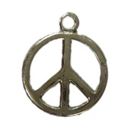 Pingente Paz e amor médio níquel - PTN051