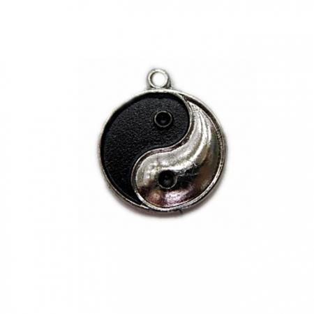 Pingente Yin Yang níquel / preto- PTN052