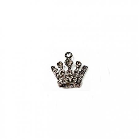 Pingente Coroa II Grafite e Niquel Envelhecido - PTN063