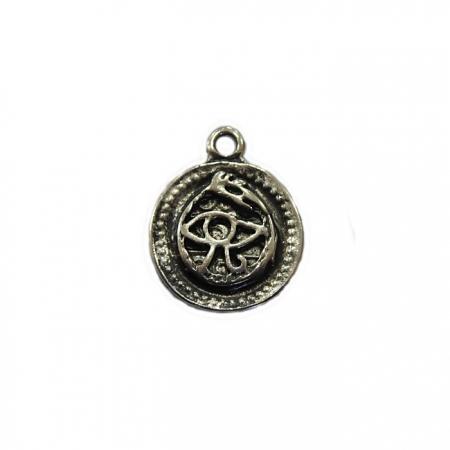 Pingente Medalha de olho níquel envelhecido- PTN075