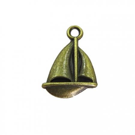 Pingente Barco ouro velho (10 unidades)- PTO022