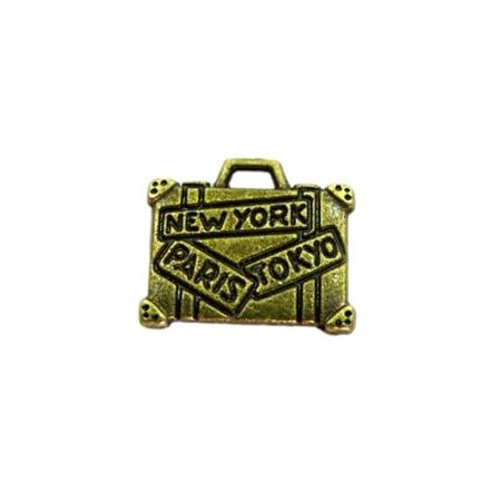 Pingente Mala ouro velho (10 unidades)- PTO035
