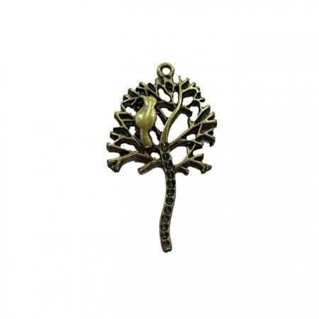 Pingente Árvore I ouro velho- PTO041