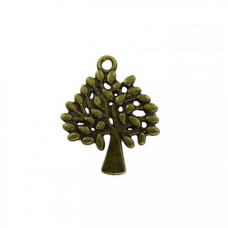 Pingente Árvore Da Vida ouro velho- PTO046
