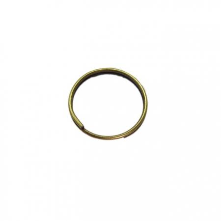 Argola de chaveiro lisa s/ corrente ouro velho (Pct 50 unidades)- ARO004