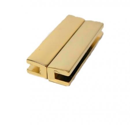 Fecho Ima dourado retangular G (01 unid.)- FID003
