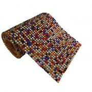 Manta de strass colorida 1,20x 45cm- MS005 ATACADO