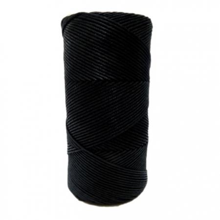 Cordão encerado fino preto  (9989)- CDF030 ATACADO