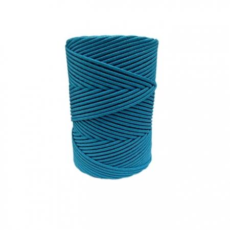 Cordão encerado grosso turquesa forte (4634)- CDG001 ATACADO