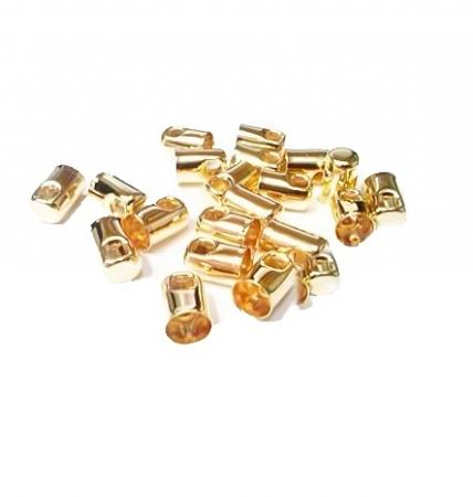 Terminal de colagem dourado Nº 2.0 (500 unid.)- TCD001 ATACADO
