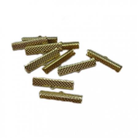 Terminal de garrinha Dourado 30mm (50 unid.)- TGD005 ATACADO