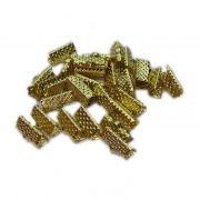 Terminal de garrinha dourado 10mm (50 unid.) -TGD002