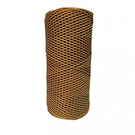 Cordão c/ nylon bege escuro / dourado- CDN010 ATACADO