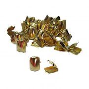 Ponteira de amassar Dourada P (500 unid.)- PCD004 ATACADO