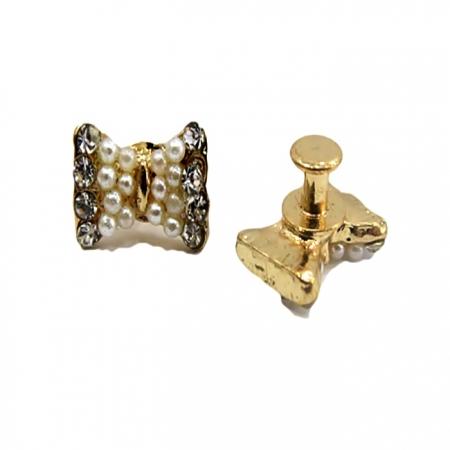 Piercing Lacinho de pérola dourado (Par)- PID023