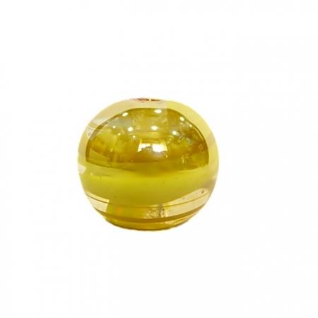Bola de murano GG amarelo irisado- MU003