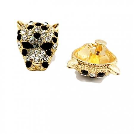 Piercing Cabeça de onça dourada (Par)- PID005