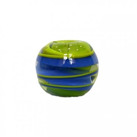 Bola de murano GG amarelo/ azul- MU005