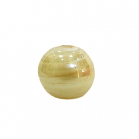Bola de murano GG branco/Cristal  irisado- MU012