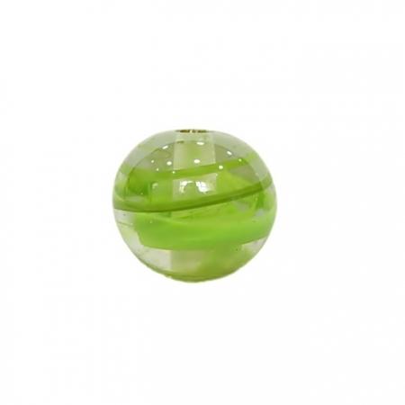 Bola de murano GG verde pistache irisado- MU029