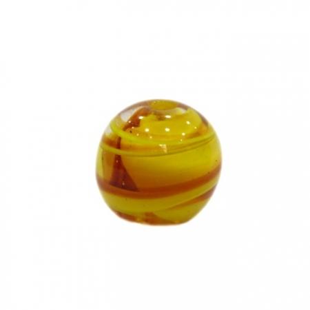 Bola de murano G amarelo/ ambar- MU039