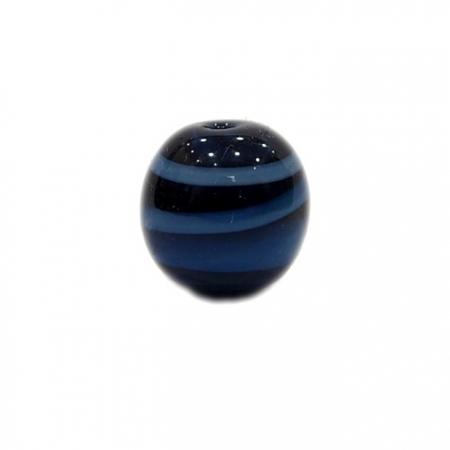 Bola de murano G  azulão/ branco- MU047