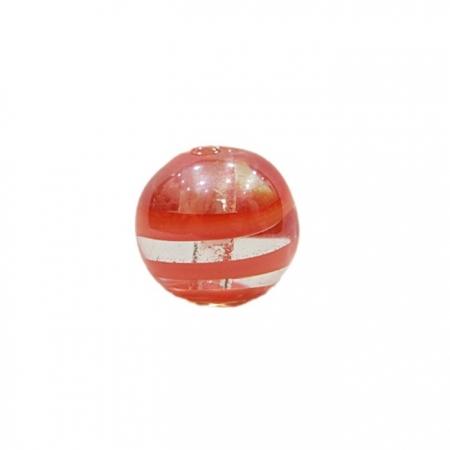 Bola de murano G laranja irisado- MU058