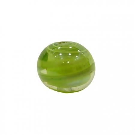 Bola de murano G  pistache irisado- MU063