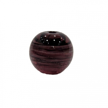 Bola de murano G roxo/ branco- MU068