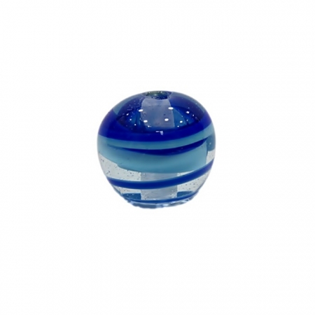 Bola de murano G  turquesa/ azul- MU075