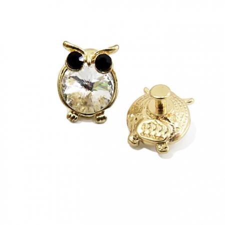 Piercing Coruja I dourada ( Par)- PID008