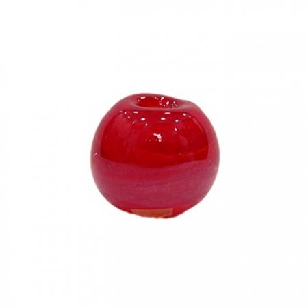 Bola de murano G vermelho irisado- MU080