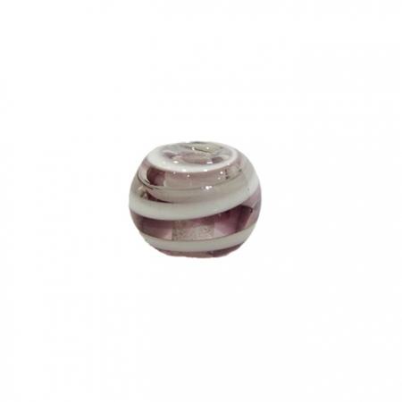 Bola de murano M lilás/ branco- MU090