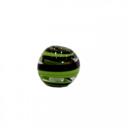 Bola de murano M pistache/ preto- MU091