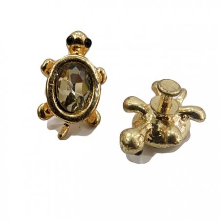 Piercing Tartaruga II dourada (Par)- PID047