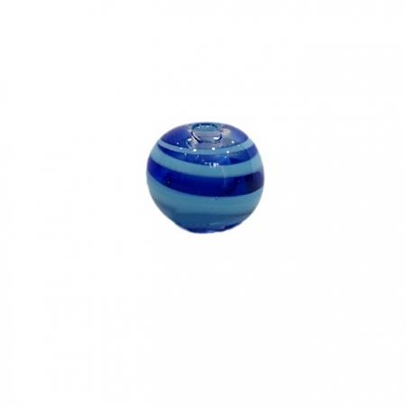 Bola de murano M Turq/Azulao/Cristal - MU099
