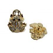 Piercing Sapo da sorte dourado (Par)- PID042