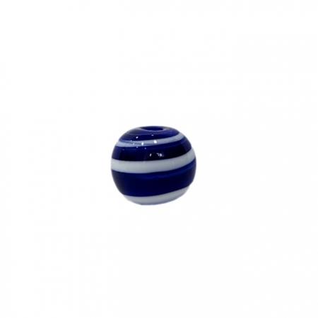 Bola de murano P azulão/ branco (10 unidades)- MU113