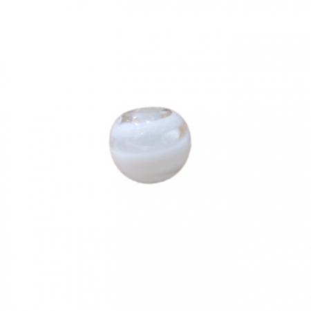 Bola de murano P branco (10 unidades)- MU115