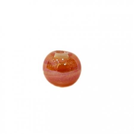 Bola de murano P laranja irisado (10 unidades)- MU118