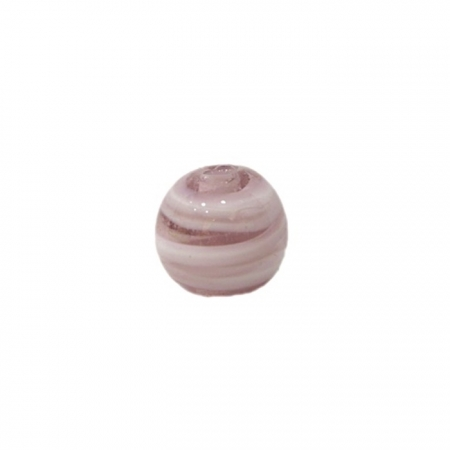 Bola de murano P lilás/ branco (10 unidades)- MU121