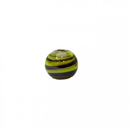 Bola de murano P preto/ amareloIRISADO(10 unidades)- MU126