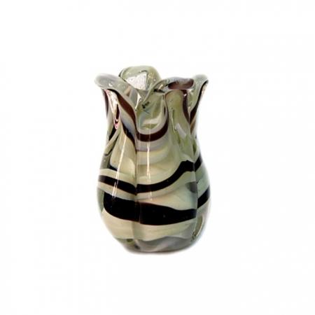 Tulipa de murano azulão/ branco- MU149