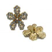Piercing Flor IV dourada (Par)- PID16