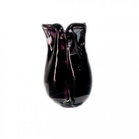 Tulipa de murano preto- MU156